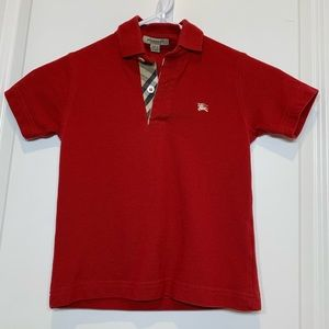 Burberry Kids Pique Polo with iconic Plaid